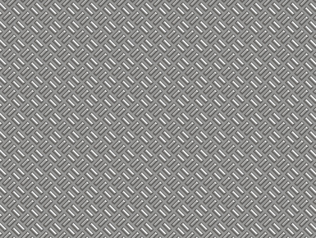 metal surface: Silver metal surface with a shallow rectangular corrugated. Stock Photo