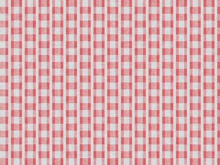 cotton fabric: Red abstract pattern on white cotton fabric Stock Photo