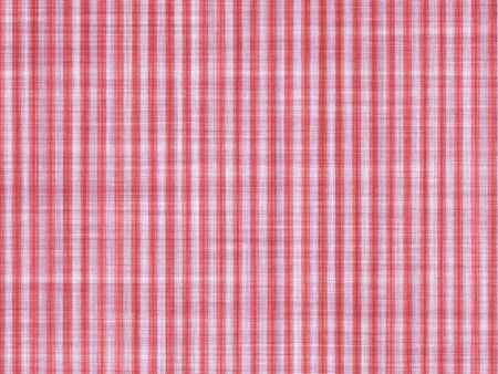 applied: Red white stripes applied on a cotton cloth, artistic background Stock Photo