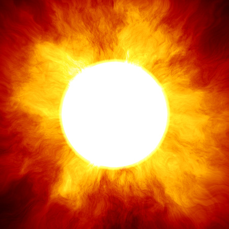 big star: Big star similar to the sun with a huge fiery crown