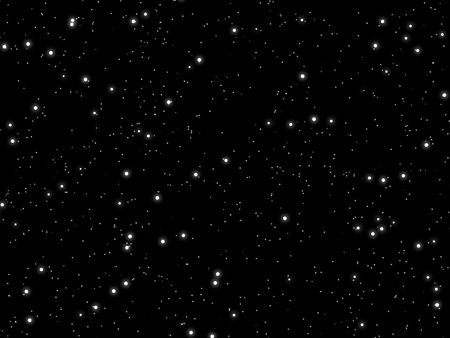 starlit: Many white stars of various sizes in outer space.