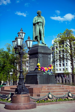 The monument to poet Alexander Pushkin in Moscow.
