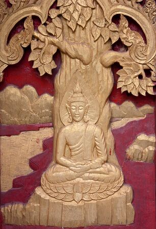 Wood carvings of the Buddhist religion  photo