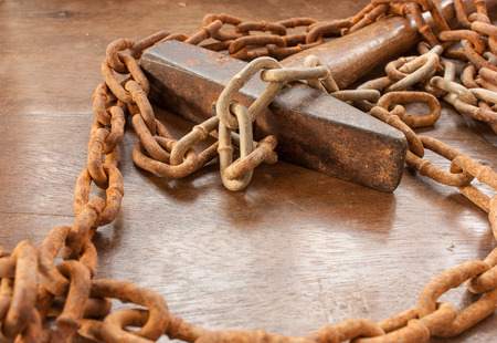 rusted chain and metal photo
