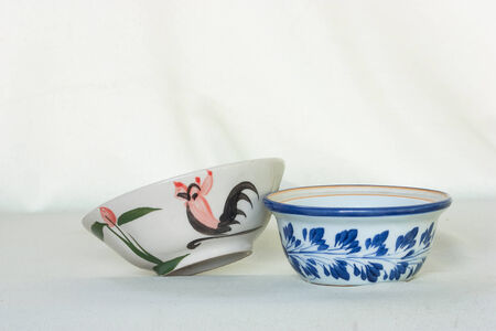 porcelain bowl White background photo