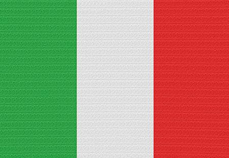 bandera italia: Bandera de Italia con una ampolla en la superficie.
