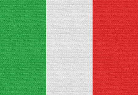 the italian flag: Bandiera d'Italia con una vescica sulla superficie.
