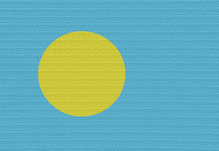 palau: Flag of Palau With a blister on the surface.