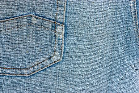 denim jeans: Blue Denim Jeans Pocket Close Up Details