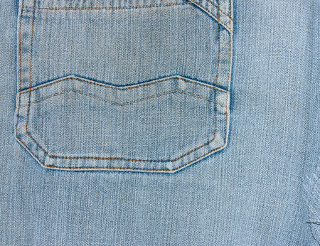 blue denim: Blue Denim Jeans Pocket Close Up Details