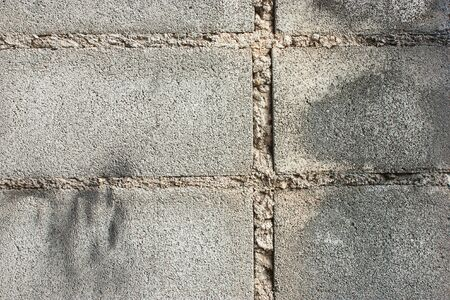 solidity: Close up of the surface of brick blocks.
