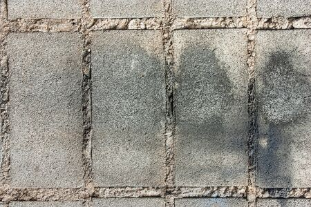 Close up of the surface of brick blocks. photo