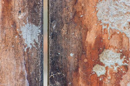 constructional: Wood surface stains stained cement.