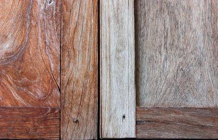 splintered: Close-up of a pattern of teak wood. Stock Photo