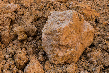 Tropical laterite soil or red earth background.