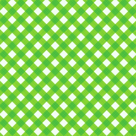 gingham pattern: Fresh green and white gingham cloth background with fabric texture, suitable for spring, summer, St  Patrick s Day and Easter designs, plus seamless pattern included in swatch palette, pattern fill expanded Illustration