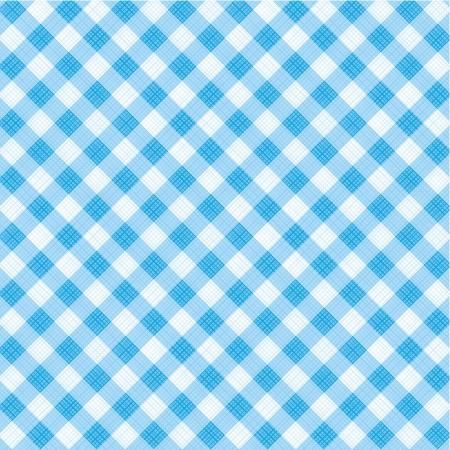 Blue and white gingham cloth background with fabric texture, suitable for Father s Day designs, plus seamless pattern included in swatch palette, pattern fill expanded