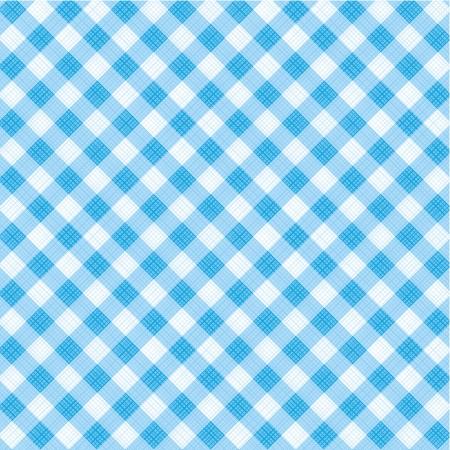 kontrolovány: Modré a bílé gingham tkaniny pozadí s tkaninou textury, vhodný pro Otce Den návrhů, plus bezešvé vzor součástí Swatch palety, vzor výplně rozšířila Ilustrace