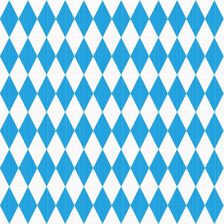 Seamless  easy to repeat - you see 9 tiles   Oktoberfest and Bavarian flag pattern or background with fabric texture