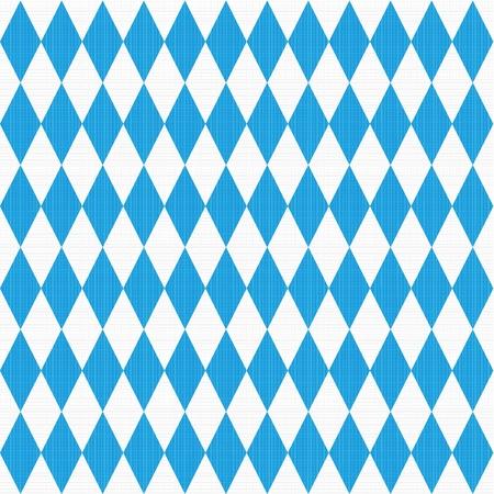 kontrolovány: Seamless snadno opakovat - vidíte 9 dlaždice Oktoberfest a bavorská vlajka vzor nebo pozadí s tkaninou textury Ilustrace