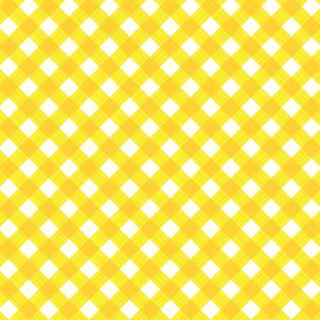 manteles: Amarillo y blanco de fondo tela vichy con textura de tejido, apto para la primavera, el verano, Pascua, cumplea�os y otros dise�os, adem�s de patr�n transparente incluido en la paleta de muestras, relleno de patr�n expandido Vectores
