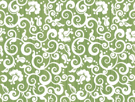 tilable: Floral white and green repeat pattern, or seamless wallpaper, else tilable background