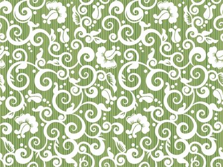 tilable: Floreale bianco e ripetizione del modello verde, o carta da parati senza soluzione di continuit�, altrimenti sfondo tilable