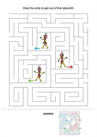 mind games: Ayuda a las hormigas para salir del laberinto, juego de laberinto para los ni�os, incluido respuesta