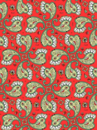 tilable: Seamless  easy to repeat  paisley pattern, print, background or wallpaper, pixel aligned, swatch included, 4 tiles here Illustration