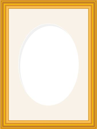 Wooden Picture Frame Mat Board With Oval Opening Royalty Free
