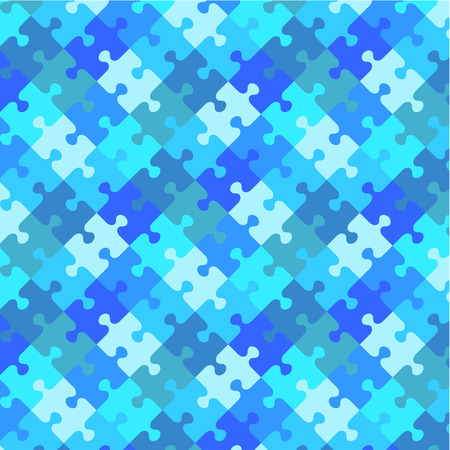 Winter or water colors jigsaw puzzle patterned background, plus seamless pattern included in swatch palette  pattern fill expanded