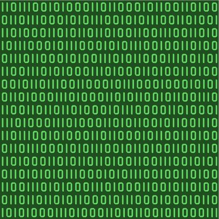 Binaire code naadloos herhaalbaar patroon, behang
