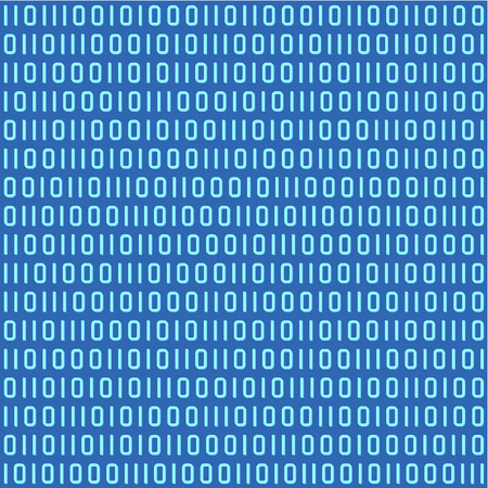 bits: Abstract blue binary code seamless  repeatable  pattern, background, wallpaper