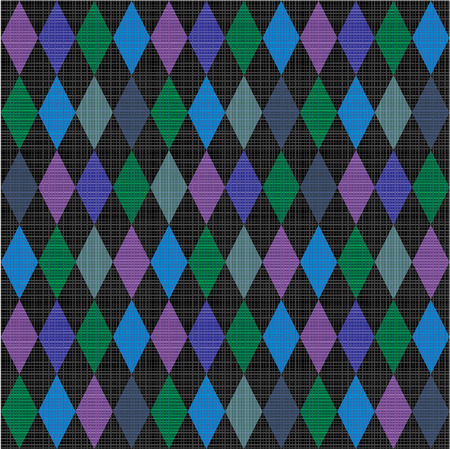 Seamless harlequin pattern background with fabric texture  Flat colors used, horizontal and vertical threads are accurately matched on their ends  Vector