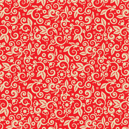 gold textures: Red and gold ornate Christmas background, plus seamless pattern included in swatch palette