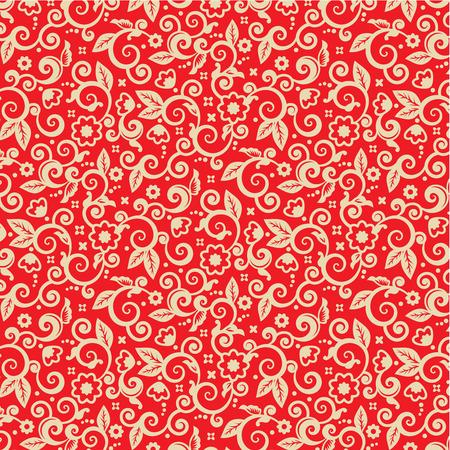 Banque Du0027images   Rouge Et Or Orné Fond De Noël, Plus Seamless Pattern  Inclus Dans La Palette Nuancier