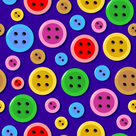 tilable: Seamless (repeat, tilable) pattern (print, swatch, tile, wallpaper, background, texture) with colorful sewing buttons