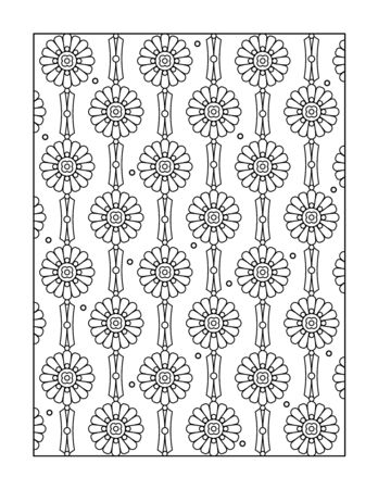 black backgrounds: Pattern coloring page for adults children ok, too, or monochrome decorative background.