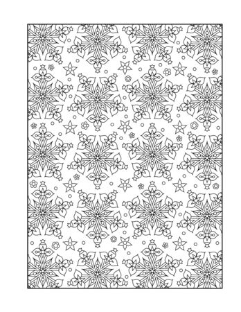 coloring sheets: Pattern coloring page for adults children ok, too with whimsical stars, or monochrome decorative background.