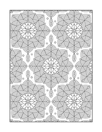 whimsical: Pattern coloring page for adults children ok, too with whimsical rosettes, or monochrome decorative background.