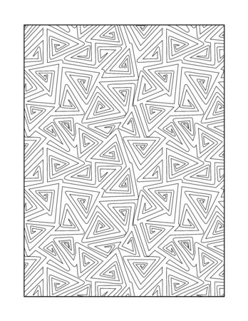 whimsical pattern: Coloring page for adults children ok, too with whimsical abstract pattern, or monochrome decorative background.