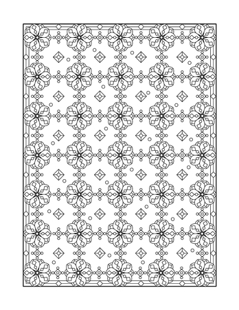 whimsical pattern: Coloring page for adults children ok, too with whimsical pattern, or monochrome decorative background.