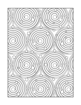 whimsical: Coloring page for adults children ok, too with whimsical abstract pattern, or monochrome decorative background.