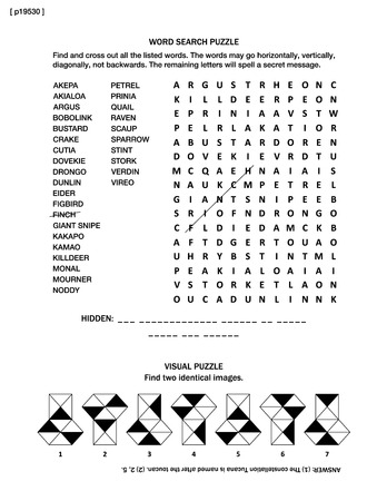 Puzzle page with two brain games: word search puzzle (English language) and visual puzzle.  Black and white, A4 or letter sized. Answer included. Stock Illustratie