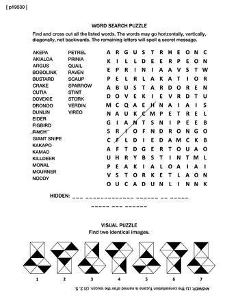 Puzzle página con dos juegos cerebrales: palabra de búsqueda rompecabezas (idioma Inglés) y rompecabezas visual. En blanco y negro, A4 o tamaño carta. Respuesta contenida. Foto de archivo - 55051636