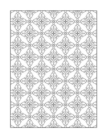printable coloring pages: Coloring page for adults (children ok, too) with whimsical pattern, or monochrome decorative background.