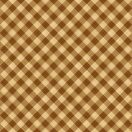 brown texture: Seamless (you see 4 tiles) tan and brown diagonal gingham fabric cloth, pattern, swatch, background, texture or wallpaper.