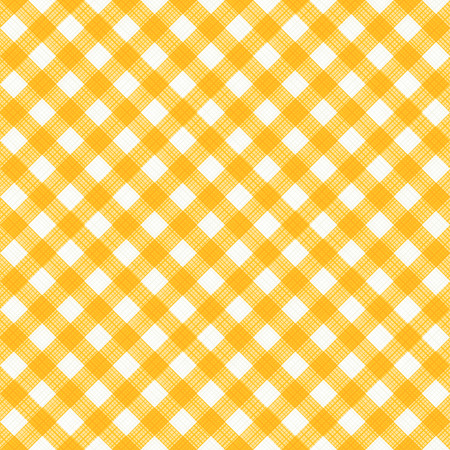 cotton fabric: Seamless (you see 4 tiles) yellow and white diagonal gingham fabric cloth, pattern, swatch, background, texture or wallpaper.