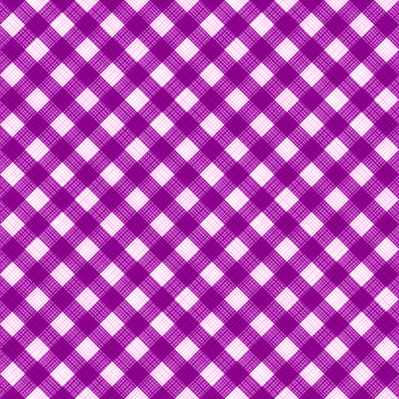 tilable: Seamless (you see 4 tiles) purple colors diagonal gingham fabric cloth, pattern, swatch, background, texture or wallpaper.