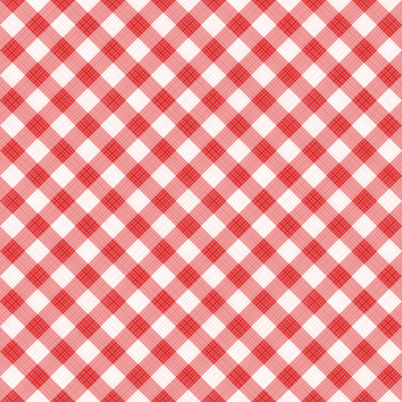 swatch: Seamless (you see 4 tiles) red diagonal gingham fabric cloth, pattern, swatch, background, texture or wallpaper. Illustration